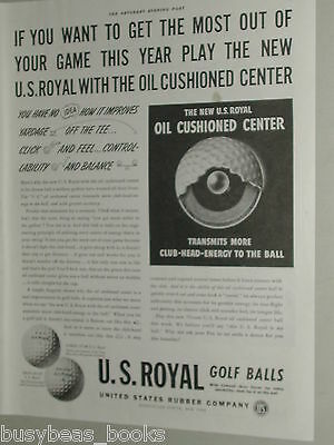 1941 U.S. Royal Golf Balls advertisement page, US Rubber, sectional view