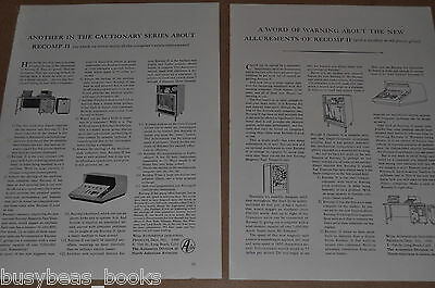 1961 RECOMP II computer advertisements, x2, North American Aviation, Autonetics