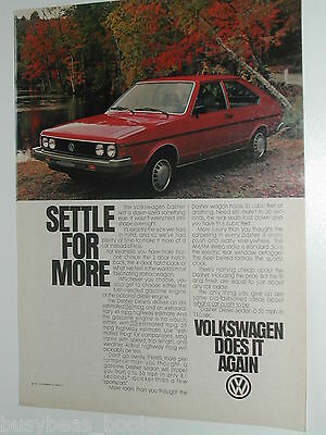 1980 Volkswagen ad, VW Dasher