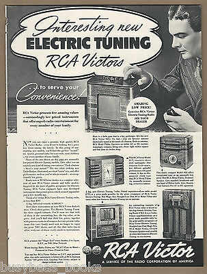 1938 RCA VICTOR RADIOS advertisement, RCA radios, large format advert