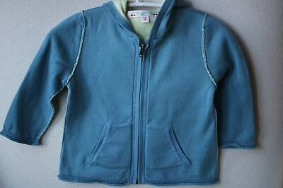 Bonpoint Baby Cotton Teal Cardigan 12 Months