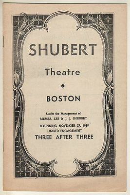 """Stepin Fetchit Playbill """"Walk With Music"""" (Three After Three)  1939  FLOP"""