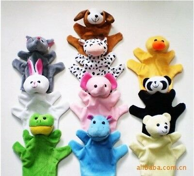10 Family Finger Puppets Cloth Educational Hand Cartoon Animal Toys Child Baby