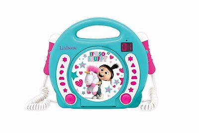 Despicable Me It's So Fluffy Cd Player With 2 Microphones - Brand New