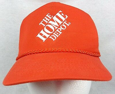 HOME DEPOT Ball Cap SNAPBACK One Size Fits All ORANGE Braided Cord HARDWARE