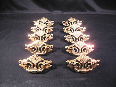 Brass Bail Style Dresser Drawer Pulls Chippendale Federal Wheat Pattern 10 pcs.