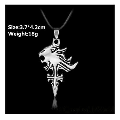 Final Fantasy Cloud Buster Strife Wolf Emblem Pendant Charm Necklace Cosplay BK
