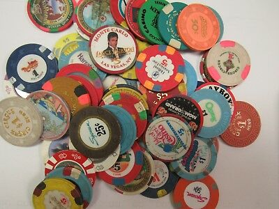 50 Different Casinos Chips And 5 Different Casino Tokens