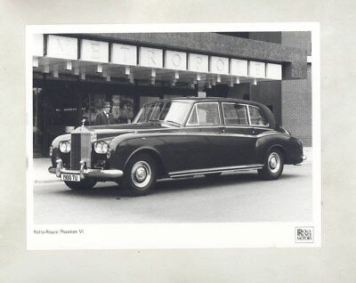 1979 Rolls Royce Phantom VI ORIGINAL Factory Photograph wy5799