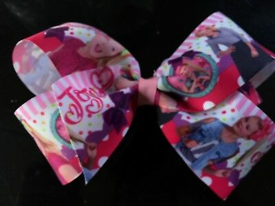 6 inch printed hand made  jojo photo hair bow with clip kids just love them