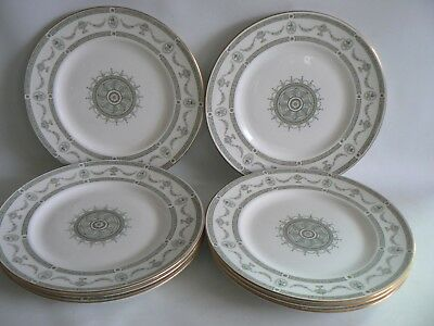 CROWN Staffordshire Apollo China  Dinner Plates X 8 Size 10.5 inches