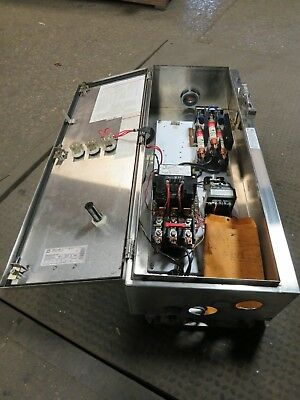 Sq D 100 Amp, Size 3 Stainless Steel Combination Disconnect (Good Condition)