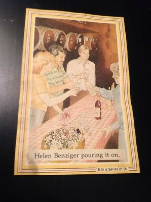 Benziger Winery Collectors Card