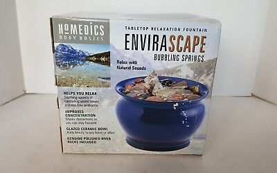 Homedics Envirascape Bubbling Springs Relaxation Tabletop Fountain