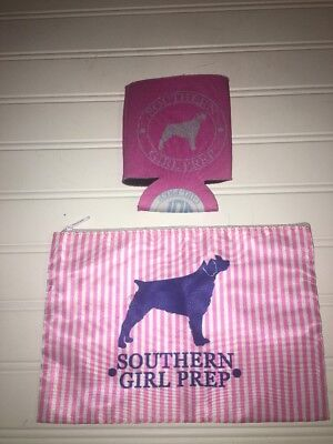 Southern Girl Prep Bag And Koozie 2 Pc Lot