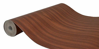 Mahogany Wood Effect Type Fablon Self Adhesive Vinyl Film Sticky Back Sticky