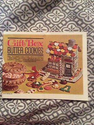 Gift Box Butter Cookies Booklet