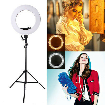 "18"" LED Ring Light Dimmable 5500K 240PCS LED Lighting Video Light Stand Kit US"