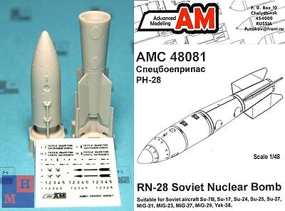 "1/48. RN­28 Soviet tactical A-bomb set, by ""Advanced Modeling"" AMC 48081"