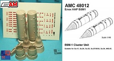 "1/48. B-8 rocket launcher set, by ""Advanced Modeling"" AMC48012"