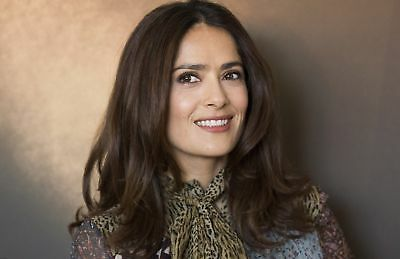 Salma Hayek With A Snort Of Leopard On The Neck 8x10 Picture Celebrity Print