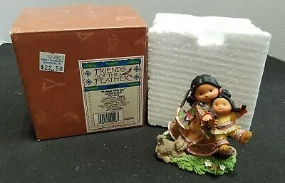 Enesco Friends of The Feather 2001 Armed With Joy Mom/Child Figurine