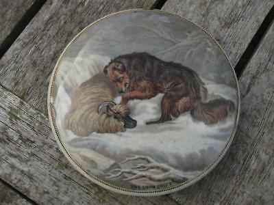 "19th Century Pratt Ware  Pot Lid THE SNOW DRIFT No. 276 4"" Diameter"