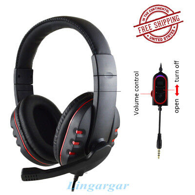 3.5mm Jack Surround Stereo Gaming Headset Headband Headphone with Mic For PC Hot