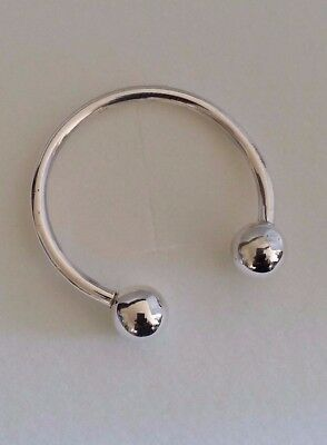 Solid 925 Sterling Silver Chunky Screw End Baby Torque Bangle Christening Gift