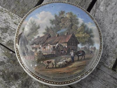 "19th Century Pratt Ware  Pot Lid ANN HATHERWAYS COTTAGE No. 228 4"" Diameter"