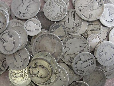 $10 Face Value 90% Silver U.S. Coin Lot Half Dollars, Quarters or Dimes CULLS