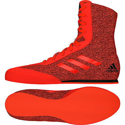 Adidas Box Hog Plus Boxing Boots Mens Red Sports Shoes Trainers