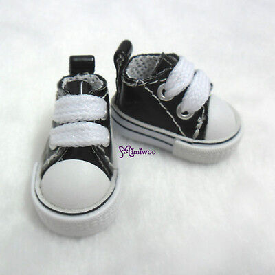 """Mimiwoo 12"""" Neo Blythe Pullip 1/6 BJD Doll PU Leather MICRO Shoes Sneaker BLACK"""