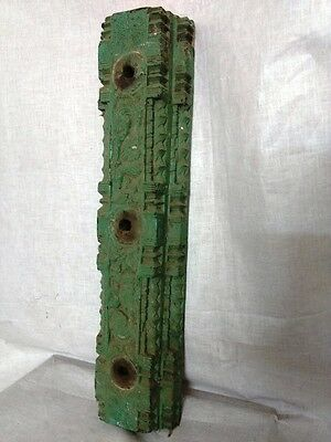 Antique Floral Carved Wall Corbel Wooden Beam Vintage Decor Home Door Panel Used