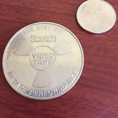 Vintage 1973 NAB SCOTCH VIDEO TAPE ADVERTISING COIN/WASHINGTON DC MONUMENT