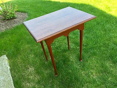 Eldred Wheeler Small Cherry Top Tea Table with painted Red Base