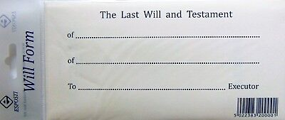Last Will And Testament & Secure Envelope DIY Kit Instructions & Example