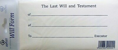 Last Will And Testament & Secure Envelope Kit Instructions & Example
