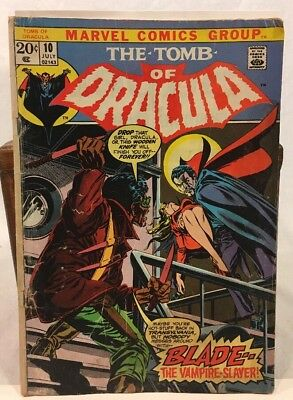 Tomb Of Dracula #10 VG+ 1st Blade Vampire Slayer Marvel Bronze Age KEY Comic