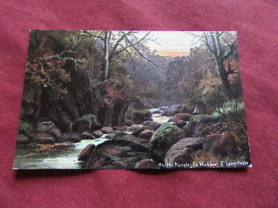 VINTAGE IRELAND: WICKLOW On the Dargle art card colour LONGSTAFF