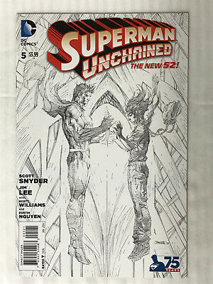 Superman Unchained #5 - 1:300 Variant! VF/NM - Jim Lee Cover!