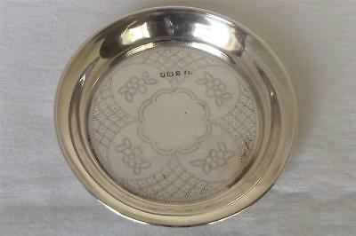 A Superb Antique Solid Sterling Silver Judaic Paten Or Dish London 1918.