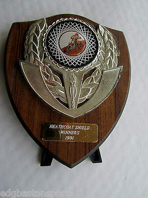 Heathcoat Shield Winners 1991 Original Plaque. ANYONE KNOW WHO WON THIS?