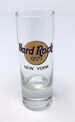 """Htf Hard Rock Cafe New York City Red Letter - 4"""" Tall Shot Glass Cordial"""