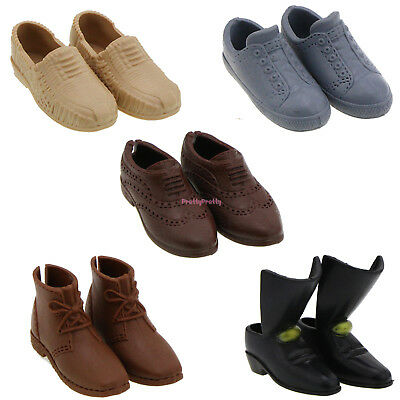 Fashion 5 Daily Leather Shoes Boots Accessories For Barbie Ken Doll Xmas Gift U