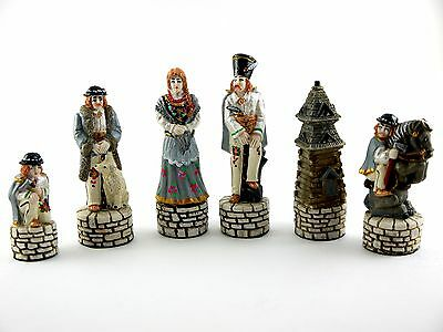 Wonderful Chess Game/ Authentic Wood & Marble / NEW / Made in UE/ Hand Painted