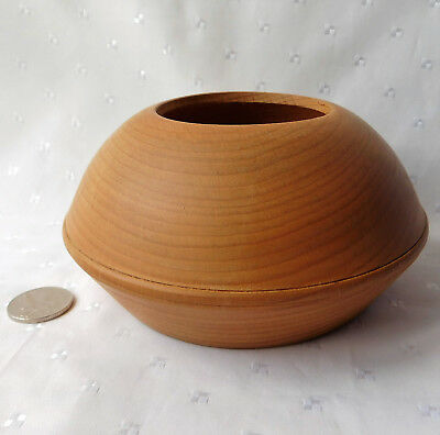 Wooden bowl for pot pourri or trinket jar Beech Turned wood 6 inch
