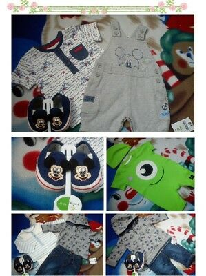 35x SUMMER MICKEY NEW BUNDLE OUTFITS BABY BOY CLOTHES 0/3 MTHS 3/6 MTHS+ NC
