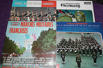 MILITARY BANDS, FRANCE/ GERMANY   4 LPs