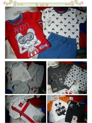 36x SUMMER MICKEY NEW BUNDLE OUTFITS BABY BOY 0/3 M 3/6 M+ PHOTOS IN DESCRIP NA